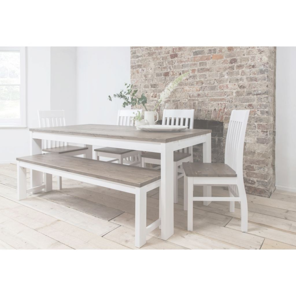 Venta White Dining Table Bench Set, White Dining Room Table Bench