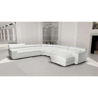 High-class Leather Sectional with Chaise Augusta-Richmond ...