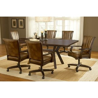 Hilale Grand Bay Rectangle Dining Set With Caster Chair