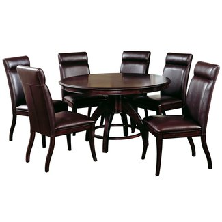 Hillsdale Nottingham Round 7-Piece Dining Set, Dark Espresso, Set Includes 1-Table and 6-Chairs