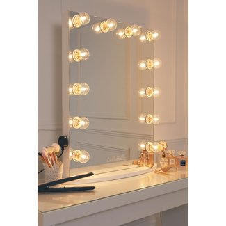 Hollywood Glow Vanity Mirror With Clear Bulbs - LullaBellz