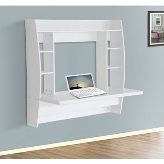 HomCom Floating Wall Mount Office Computer Desk Storage ...
