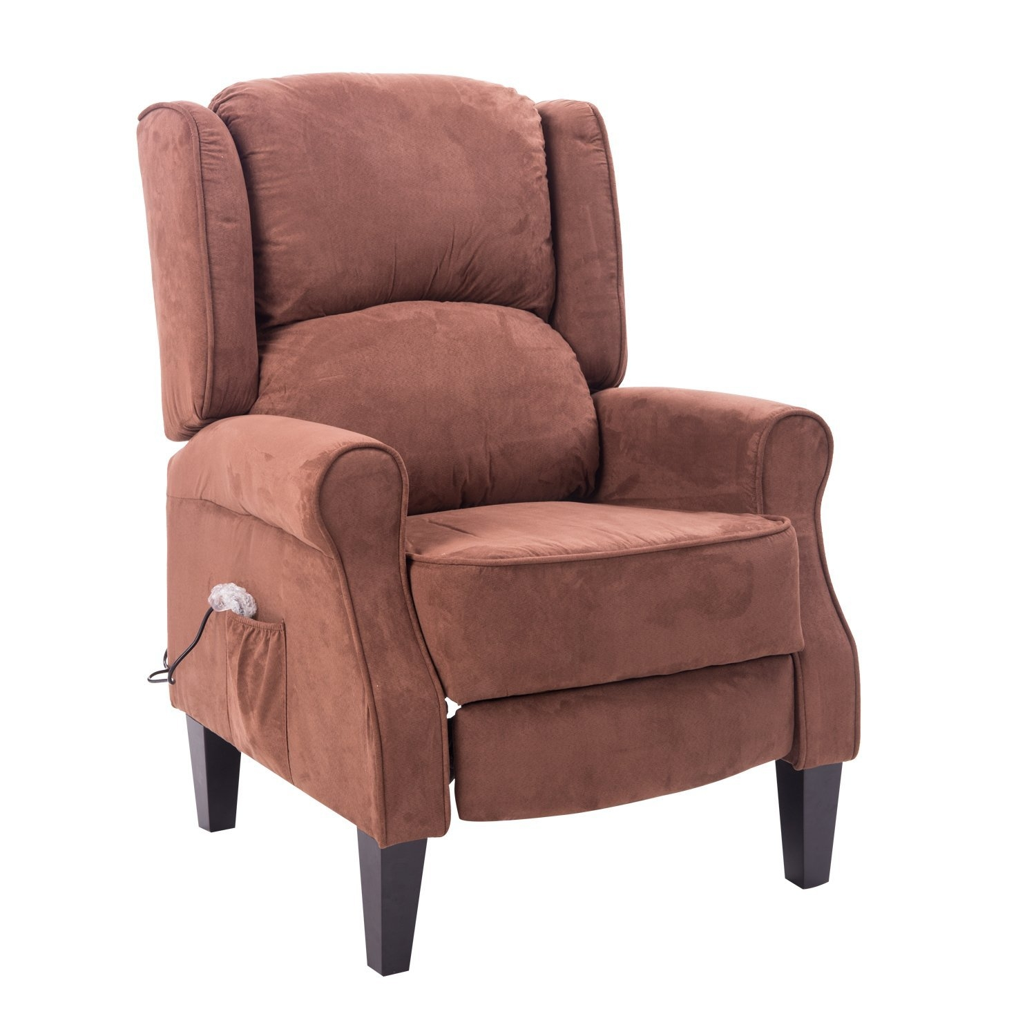 HomCom Heated Vibrating Suede Massage Recliner Chair