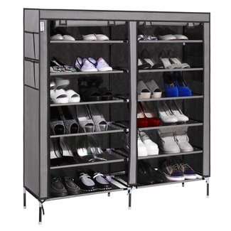 Homdox Portable Shoe Storage Cabinet Space Saving Shoe ...