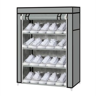 Home 4Tier Canvans Covers Shoes Storage Organizer Shoe ...