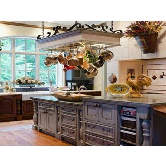 home decor kitchen ideas, French Country Kitchen Pot Racks ...