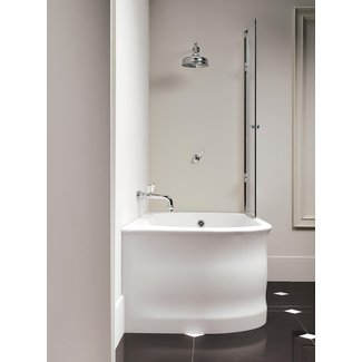 Home Decor : Small Corner Tub Shower Combo Bathroom Wall