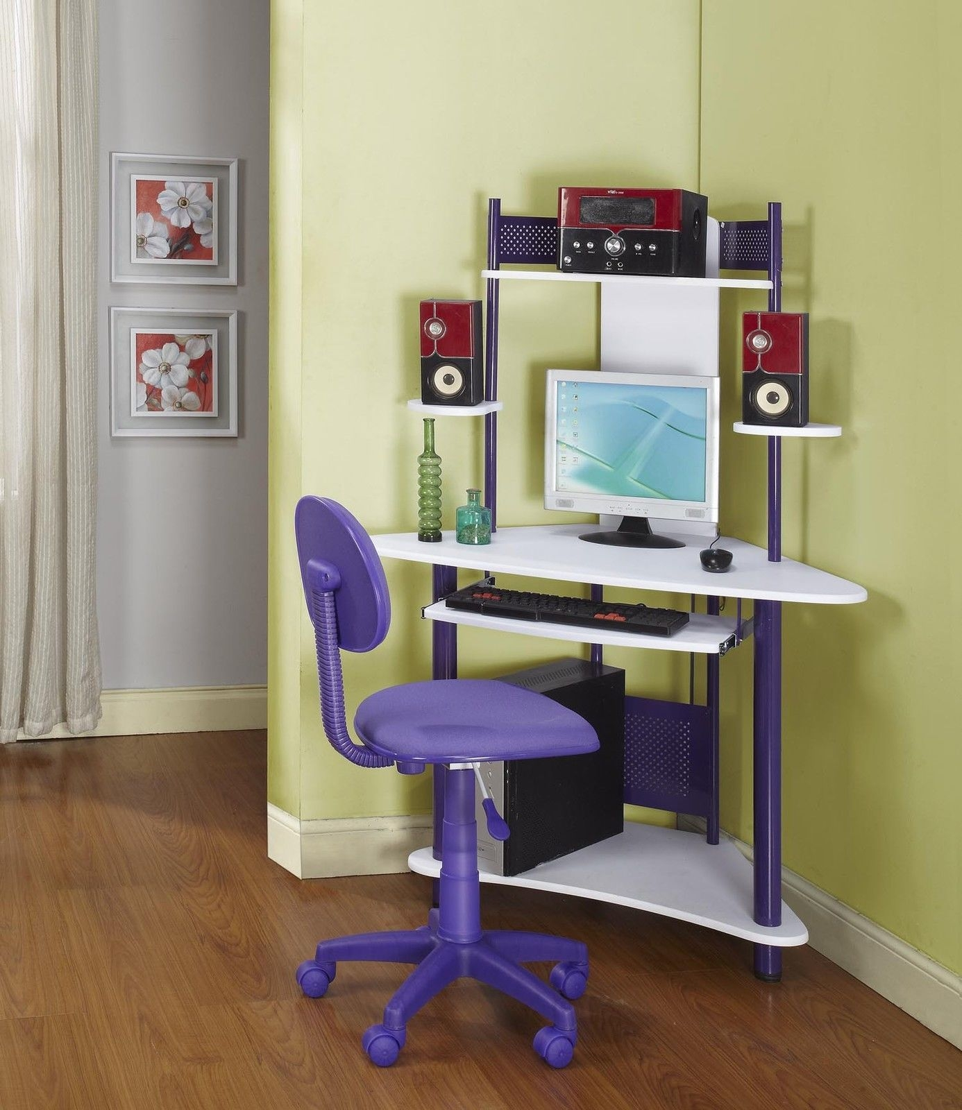Home Design Ideas Popular Of Small Space Computer Desk .