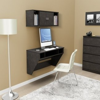 Home office furniture computer desk, floating desks wall ...