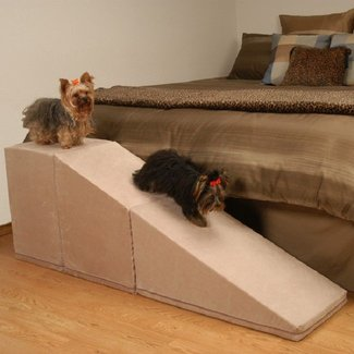 homemade dog ramp for bed | puppies | Pinterest |