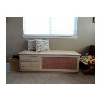 How To & Repair : Build Storage Bench With Window