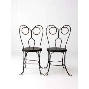 Ice Cream Parlor Chairs   A Pair | Chairish