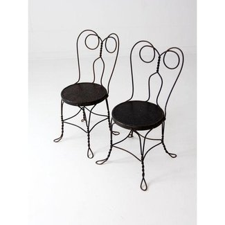 Ice Cream Parlor Chairs - A Pair | Chairish