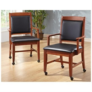 Dining Chairs With Casters - Visual Hunt