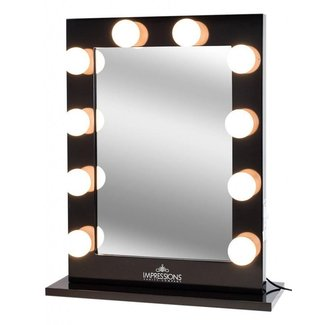 Impressions Vanity Hollywood Studio XL Lighted Makeup Vanity Back Stage Mirror with Globe Bulbs