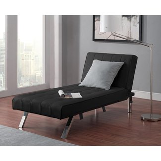 Indoor Chaise Lounge - Convertible Modern Living Room Bedroom Spaces Chair Furniture Home