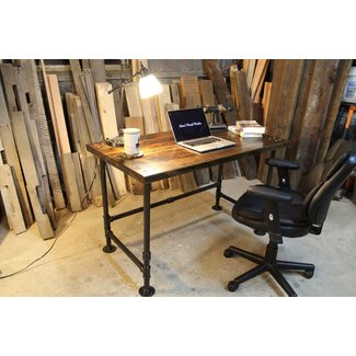 Industrial Pipe Reclaimed Wood Desk