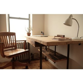 Industrial Reclaimed Wood Stand-Up Desk - Modern - Desks ...