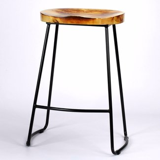 Tractor Seat Style Metal Bar Stool Furniture