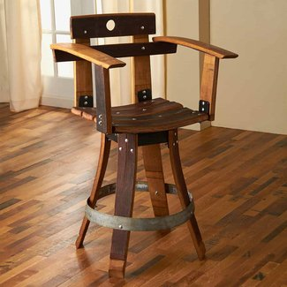 Interesting Bar Stools with Arms for Mini Bar - Camer