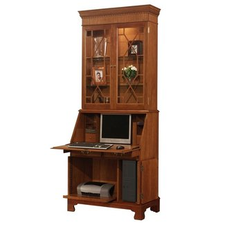 Jamestown Computer Secretary Desk with Hutch | Wayfair