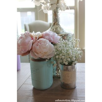 Jars, Mason jar vases and Shabby chic on Pinterest