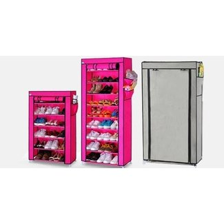 Jual SHOE RACK WITH DUST COVER 10 Grid - SUPER