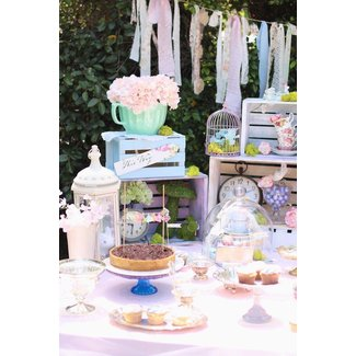 Kara's Party Ideas Shabby Chic Alice in Wonderland Baby ...
