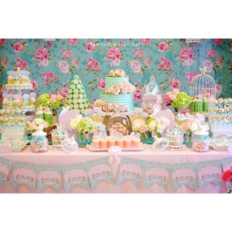 Kara's Party Ideas Shabby Chic Baby Shower | Kara's Party