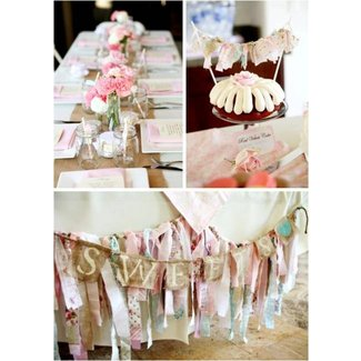 Kara's Party Ideas Vintage Shabby Chic Baby Shower | Kara