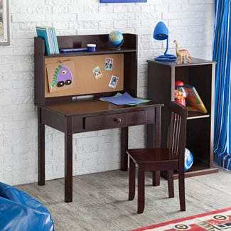 KidKraft Pin Board Desk with Hutch & Chair - Contemporary