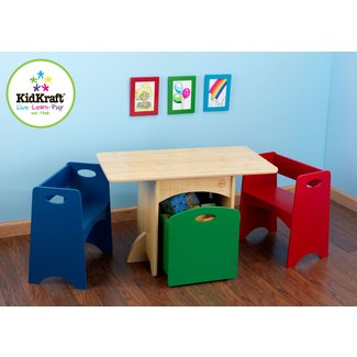 Kids 4 Piece Rectangular Table and Chair Set