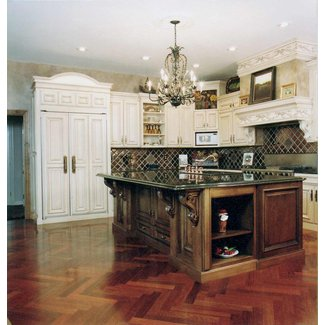 Kitchen Cabinet: French Country Kitchen Cherry Cabinets ...