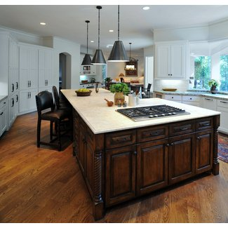 kitchen-island-with-cooktop-Kitchen-Contemporary-with-bar ...