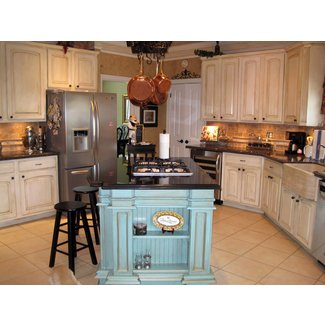 Kitchen: Stunning White French Country Kitchen Cabinets ...