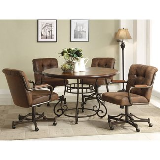 Kitchen Table Sets With Caster Chairs Images