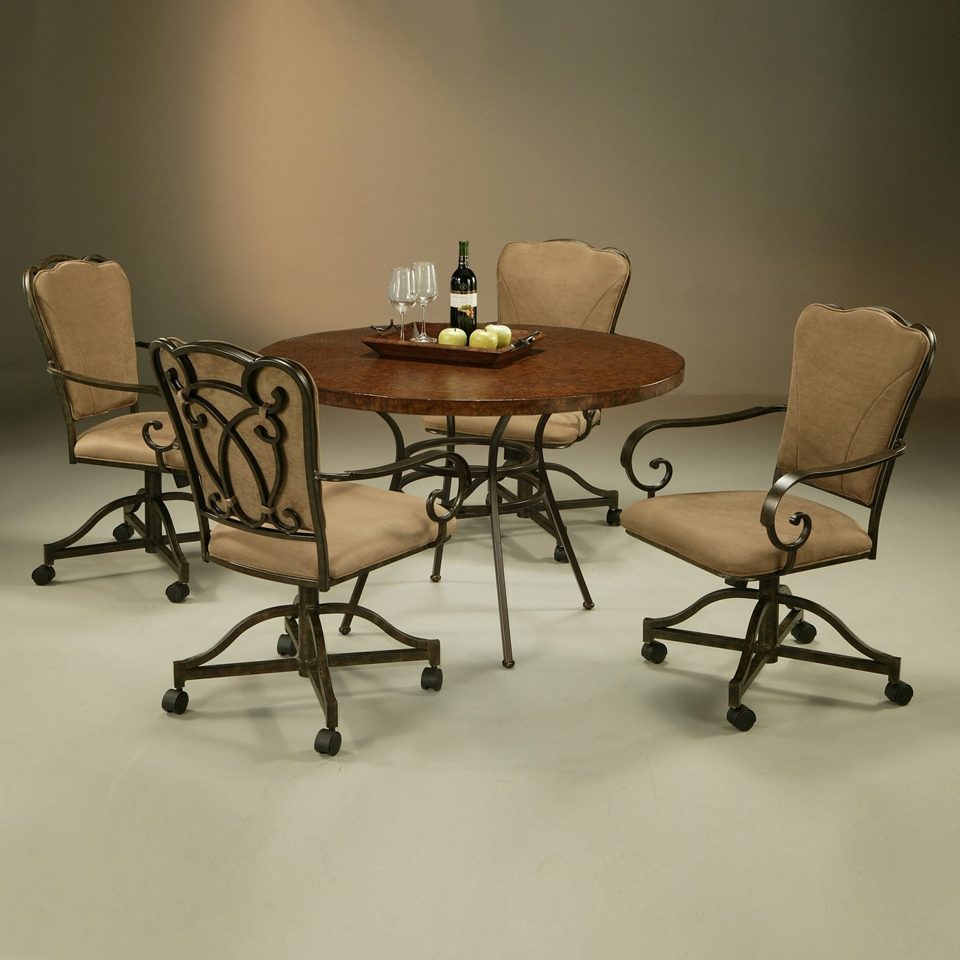 Kitchen Table With Chairs On Wheels: Dinette Sets With Caster Chairs