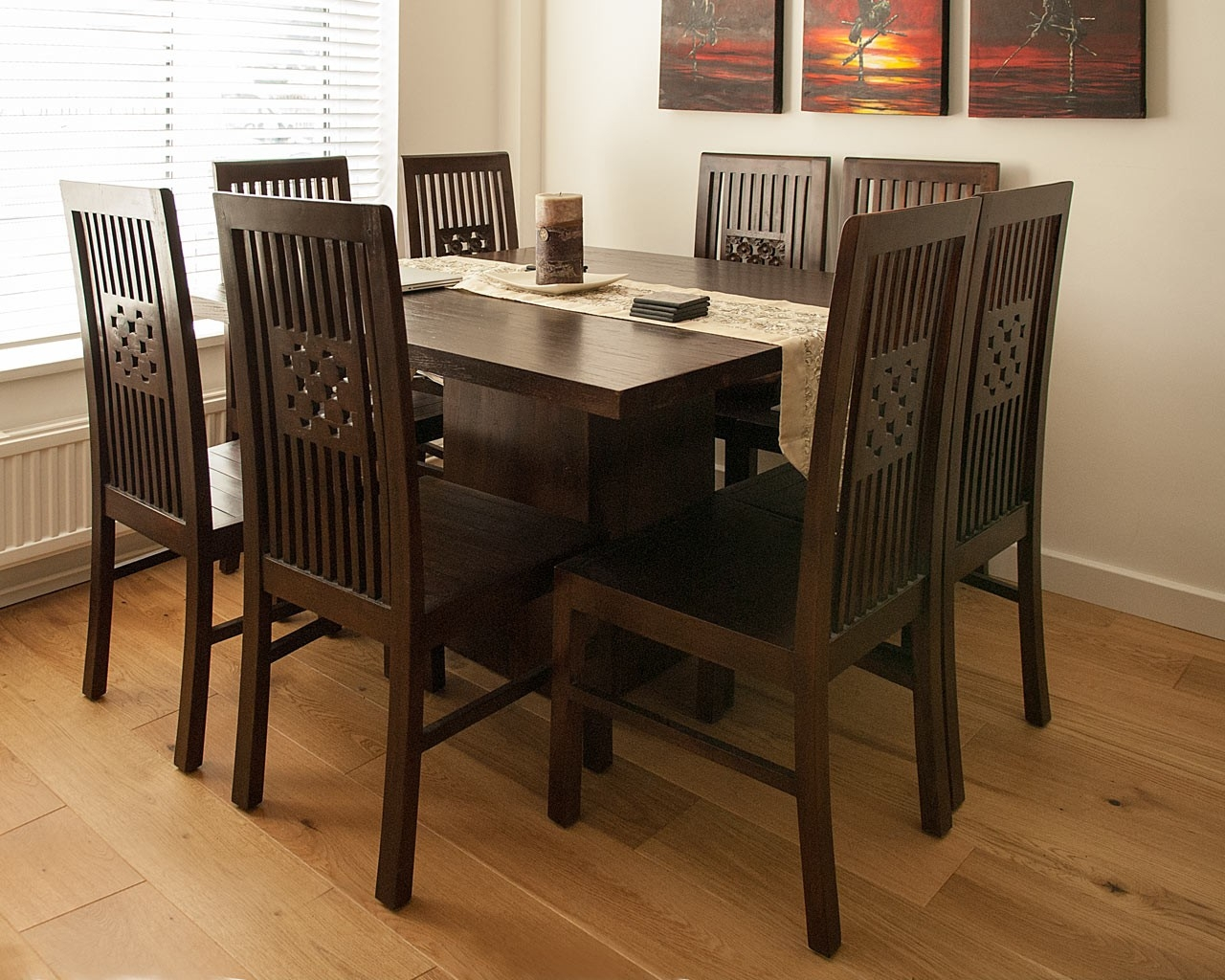 Kotak Dark Square Dining Table Kotak Dark Square Dining Table
