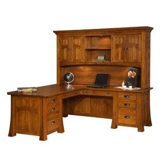 L Corner Desk With Hutch - Rooms