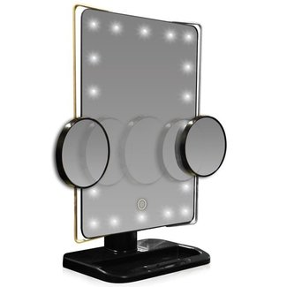 L.E.D. Lighted/Movable 10X Magnification Vanity Mirror