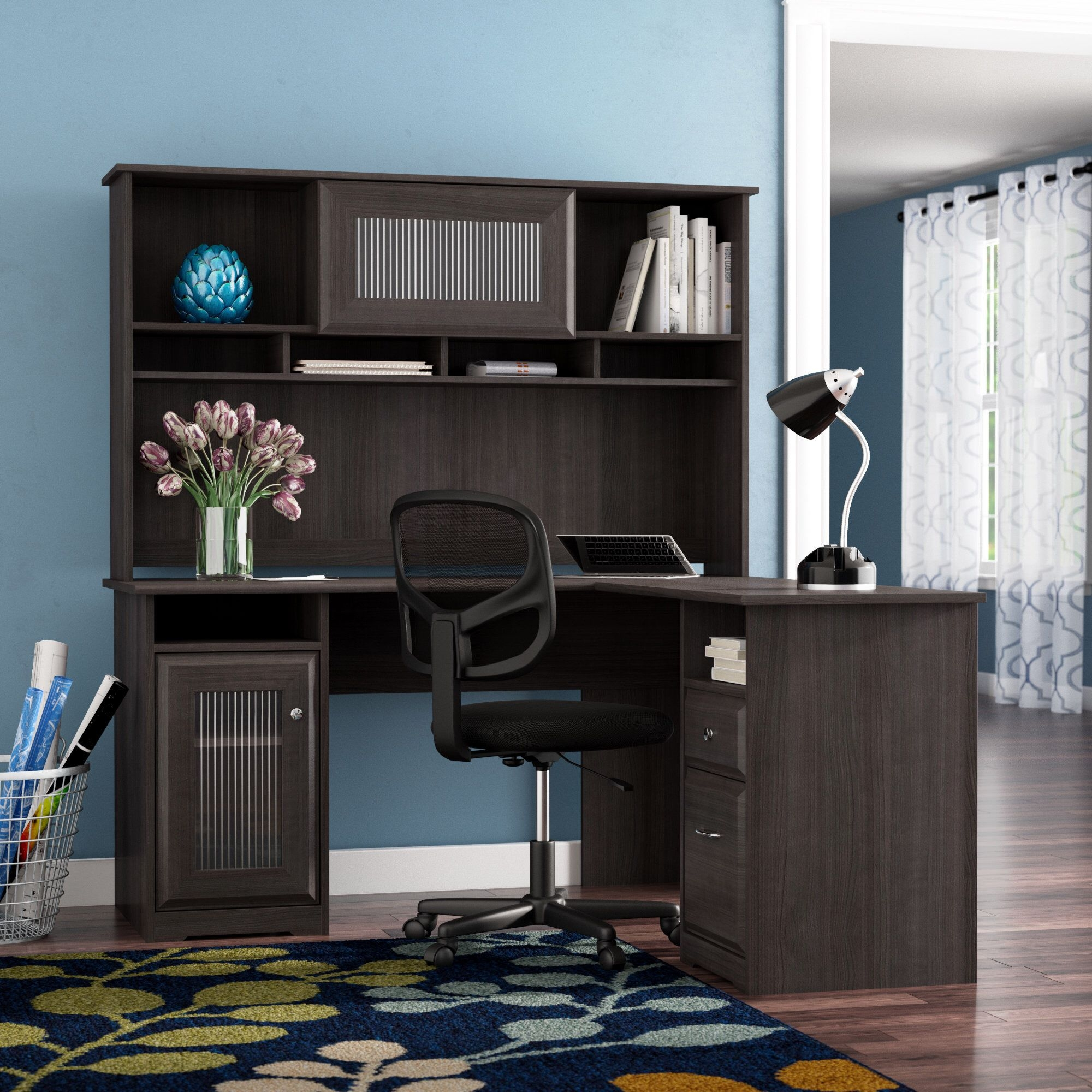 L-Shape Executive Desk with Hutch