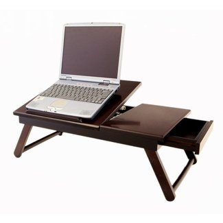 LAPTOP DESK WOODEN PORTABLE NOTEBOOK COMPUTER TABLE BED ...