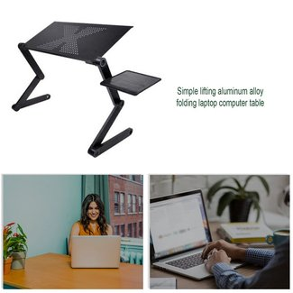 Laptop Table Stand Tray For Sofa Bed Black · Dpthings