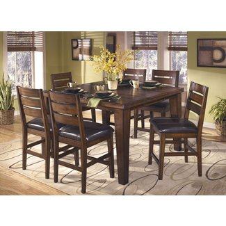Larchmont Square Counter Height Dining Table and 6 Chairs ...