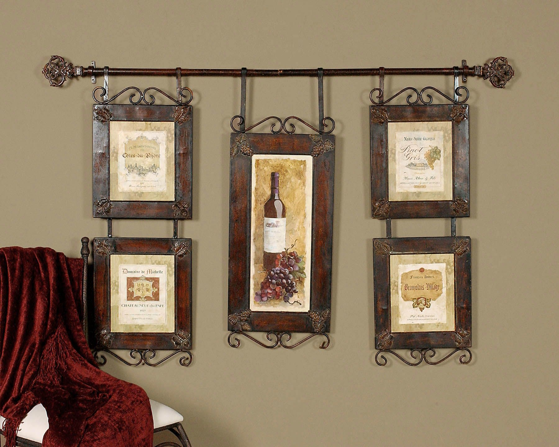 LARGE WINE Collage FRENCH COUNTRY TUSCAN Wall Decor | EBay