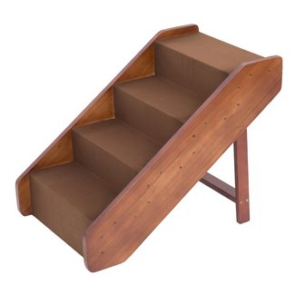 """Large Wood Pet Ladder Stairs Dog Ramp 20"""" Tall Bed"""