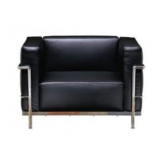 Le Corbusier Grand Firm Comfort Leather Lounge Chair