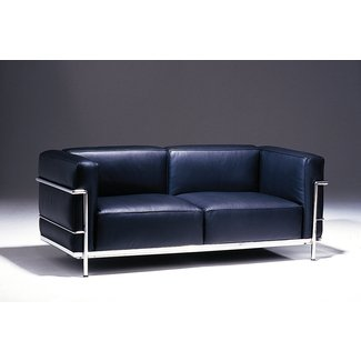 Le Corbusier Grand Firm Comfort Leather Loveseat