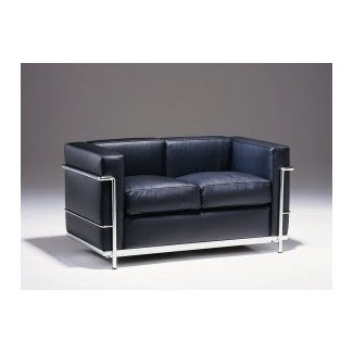 Le Corbusier Petit Comfort Leather Loveseat