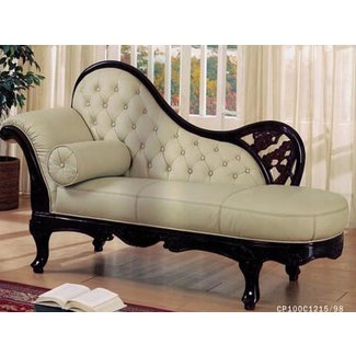 Leather chaise lounge chair, antique chaise lounge for ...